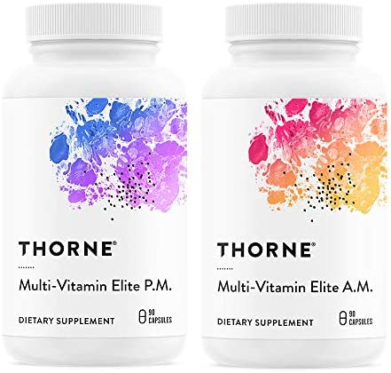 Thorne Research – Multi-Vitamin Elite – A.M. and P.M. Formula to Support a High-Performance Nutrition Program – NSF Certified for Sport – 180 Capsules