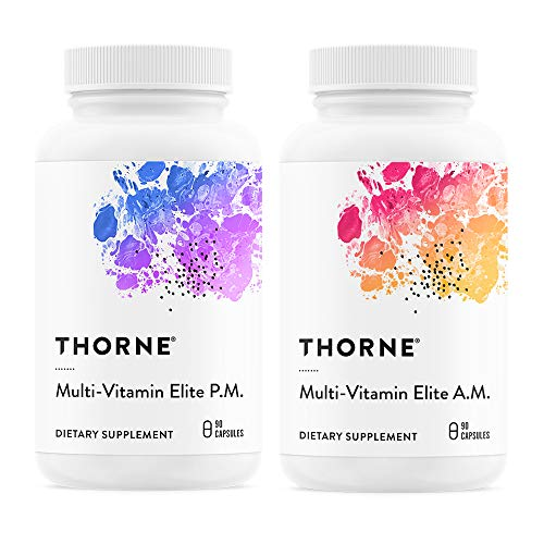 (Thorne Research - Multi-Vitamin Elite - A.M. and P.M. Formula to Support a High-Performance Nutrition Program - NSF Certified for Sport - 180 Capsules)