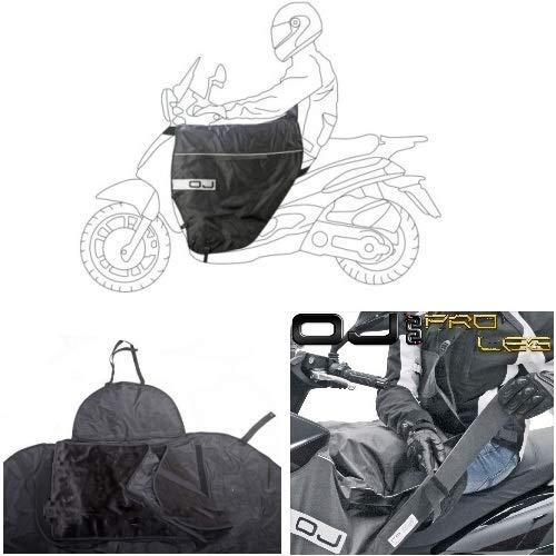 Compatible avec SYM Orbit 50 2000 00 Tablier Etanche OJ JFL-TA Couverture Thermique pour Scooter avec Doublure DOUBL/ÉE ET Cheveux SYNTH/ÉTIQUES Pro Leg Noir
