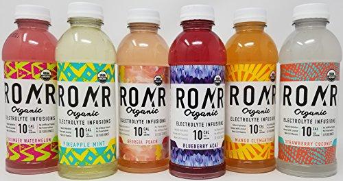 Roar Organic Electrolyte Infused Coconut Water Sports Drink 6 Flavor Variety Pack of 12 - 18 oz bottles