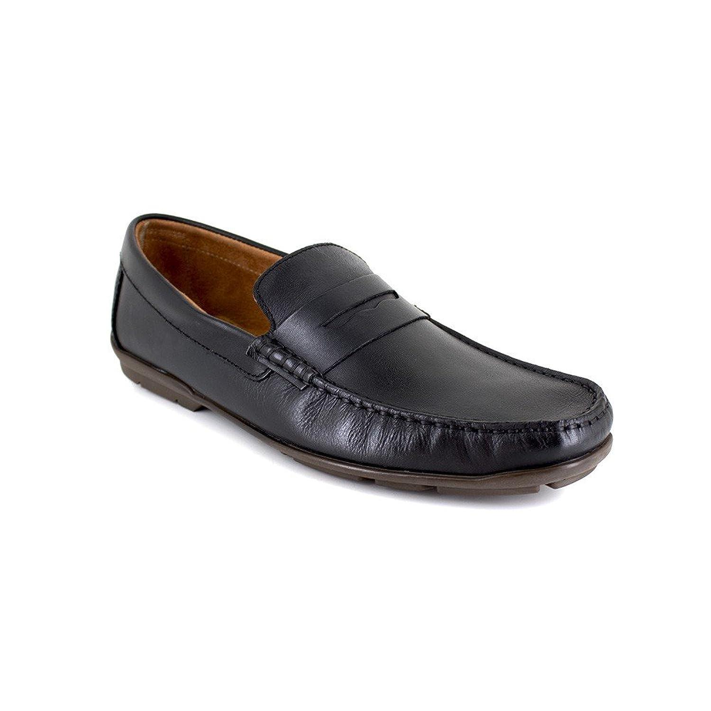Peter Blade - Zapatos Hombre Mocasin Cuero Formal Negro 45 EU