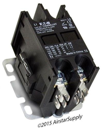 Siemens 45EG20AJ - Replaced by Eaton / Cutler Hammer C25BNB230T Contactor , 2-Pole , 30 Amp , 24 VAC Coil Voltage by Eaton Cutler-Hammer (Image #2)