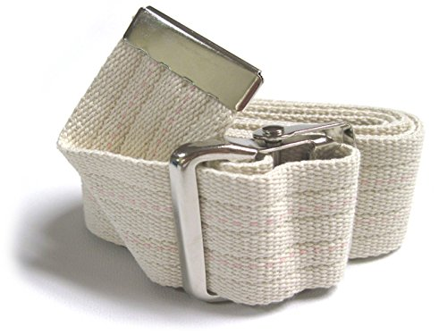 JDM Medical Cotton Gait Belt with Metal Buckle, Natural Cotton 60'' by JDM Medical