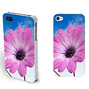 Customized High Impact Flowers Back Cover Case for Iphone4/4s Floral Design Cell Phone Protector Skin (single red Chrysanthemum) by icecream design