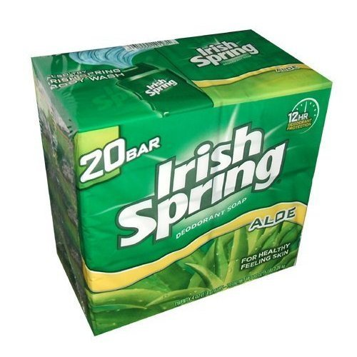 Irish Spring Aloe Bar Soap 3.75 Oz-pack of 20 Bars by Irish Spring