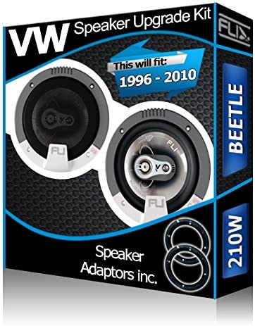 Haut-Parleur de porte arri/ère pour VW Beetle Fli-Parleurs de voiture Adaptateur pour haut-Parleur pods 210 Watts