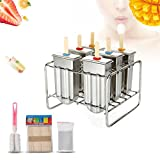 Popsicle Molds - Delaman Stainless Steel DIY Ice Lolly Mold, Ice Cream Mould, with Stick Holder