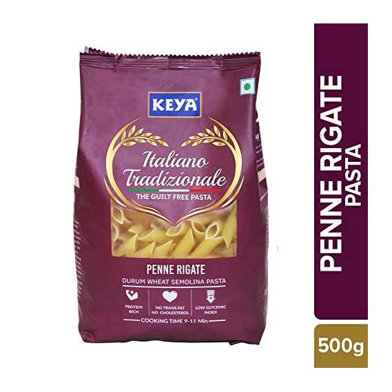 Keya Gourmet Penne Rigate Durum Wheat Pasta, 500g
