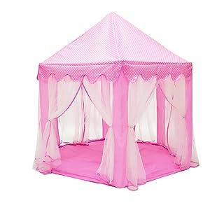 Tenda per Bambini Giochi Interni ed Esterni casa Giocattolo Ragazza Princess House Castle Tent (Colore : B)
