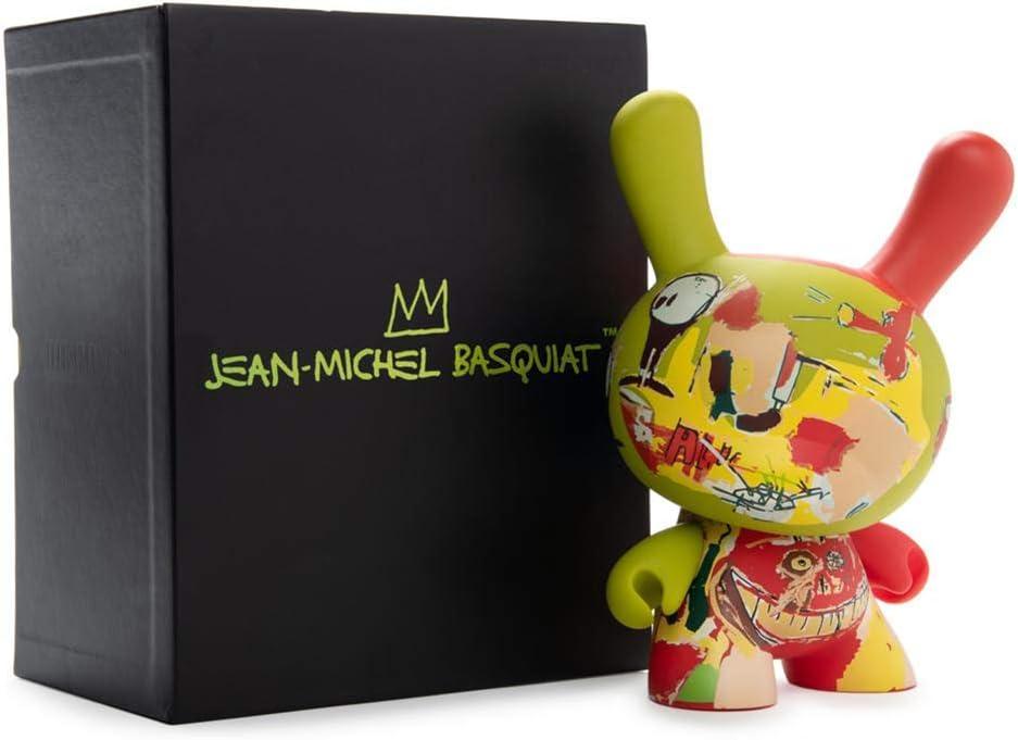 "Jean-Michel Basquiat 8/"" Dunny diseñador de arte de edición limitada vinilo figura Kidrobot"