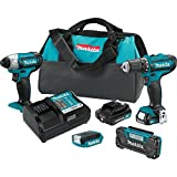 Makita CT409R 2.0 Amp 12V max CXT Lithium-Ion Cordless 4-Pc. Combo Kit For Sale