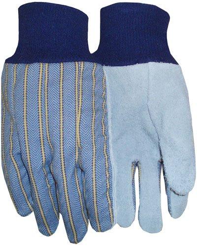 Blue Regular Blue Knit Wrist Carolina Glove /& Safety 5049 Mens Leather Palm Gloves