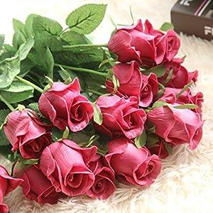 XGM GOU Artificial Flowers DIY Wedding Decorations 9 Pcs/Lot Real Touch Rose Flowers Bridal Bouquets Home Decor Artificial Flores 2