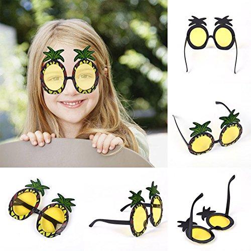 VESSOS Home Fruit Shape Adult Pineapple Hawaiian Sunglasses Party Novelty Supply Fancy Dress Party DIY -