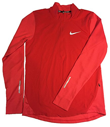 Nike Men Sport Jackets (Nike Mens AeroReact Half-Zip Soft Shell Long Sleeve Running Shirt (Medium, University Red))