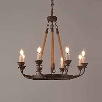 1085 8 Spanish Style Wrought Iron Chandelier