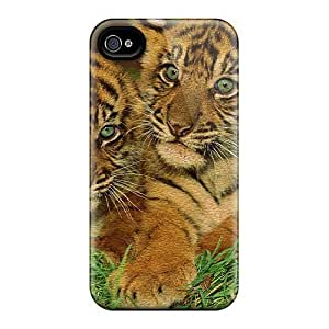 Hard Plastic Iphone 6 plus Case Back Cover,hot Tiger Cubs Case At Perfect Diy