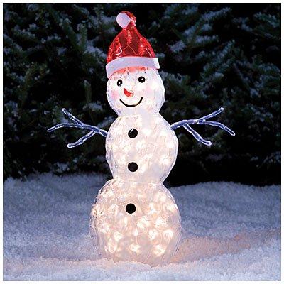 Lighted Outdoor Snowman - 2
