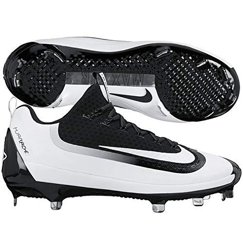 Nike Mens Air Huarache 2kfilth Elite Low Metal Cleats 12 US Black/White