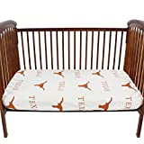 College Covers Texas Longhorns Baby Crib Pair of Fitted Sheet, White