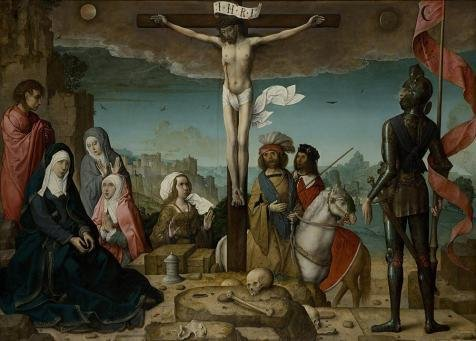 Oil Painting 'Juan De Flandes-Crucifixion,16th Century', 8 x 11 inch / 20 x 28 cm , on High Definition HD canvas prints is for Gifts And Gym, Laundry Room And Powder Room Decoration, huge