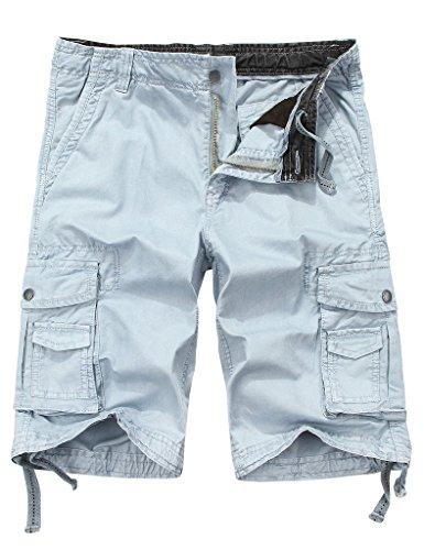 9fb8a34420 WenVen Men's Cotton Twill Cargo Shorts Outdoor Wear Lightweight(No.4 Light  Grey,36) - Buy Online in Oman. | Apparel Products in Oman - See Prices, ...