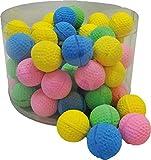 PeSoBo 10 Stück Moosgummiball 4 cm Katzenspielzeug Spielball Softball