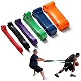 Firelong Basketball Resistance Band Training Dribbling Fitness Single Circle 6 Levels Strong Heavy Duty Professional Exercise Bands Natural Latex 41 Inch Loop (black 50-75lbs)