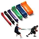 Firelong Basketball Resistance Band Training Dribbling Fitness Single Circle 6 Levels Strong Heavy Duty Professional Exercise Bands Natural Latex 41 Inch Loop (green 50-120lbs)