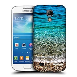 AIYAYA Samsung Case Designs Transparent Seawaves Beautiful Beaches Protective Snap-on Hard Back Case Cover for Samsung Galaxy S4 mini I9190 Duos I9192