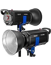 """Phot-R VEO100-00 Atelier LED-Videoleuchte Dimmbar 2,4GHz Kabellos mit Bowens Mount 1000W Dauerlicht, 7"""" Standardreflektor, LED-Bildschirm, Ultrahell, Metallrahmen, 5600K CRI 97 Foto Studio"""
