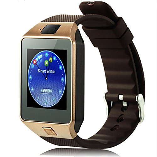 DZ09-Bluetooth-Smart-Watch-with-SIM-Card-Slot-Make-Phone-Calls-20MP-Camera-Support-Message-Notification-TF-Card-Pedometer-Sleep-Monitor-Compatible-with-Android-and-iOS-System-Gold