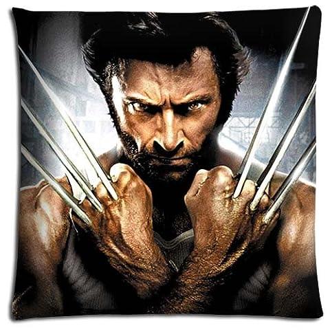 Unique Zippered X-Men Origins Wolverine Bedding Pillow Covers Cases Fabric Polyester Cotton 16x16 inch 40x40 (Wolverine Xmen Bedding)