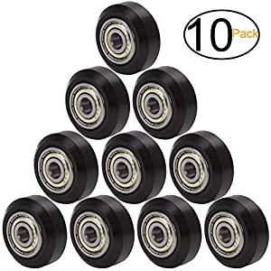 ExcelFu Big Plastic Pulley Wheel with Bearing Idler Pulley Gear Perlin Wheel for 3D Printer, Pack of 10 by ExcelFu