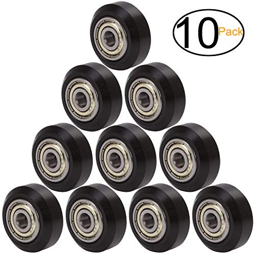 Plastic Bearing - ExcelFu Big Plastic Pulley Wheel with Bearing Idler Pulley Gear Perlin Wheel for 3D Printer, Pack of 10