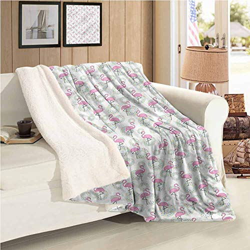 """Maureen Austin Flamingo Weighted Blanket Donuts Hawaii Animals Easy to Care 59""""X31""""Inch"""