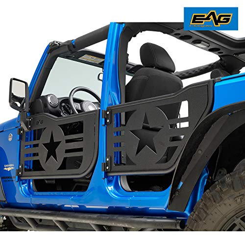 EAG 07-18 Jeep Wrangler JK 4 Door Only Military Star Tubular 4 Door with Side View ()