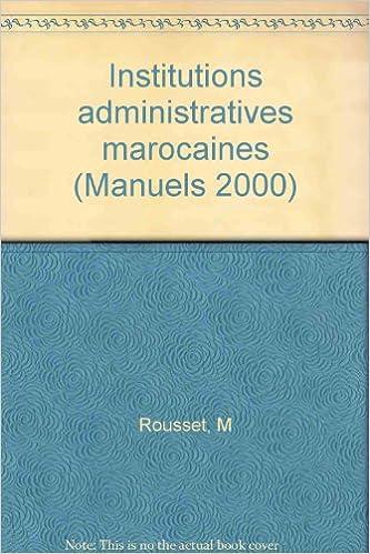 En ligne téléchargement gratuit Institutions administratives marocaines epub pdf