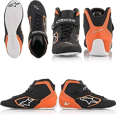 Black//Orange//White Alpinestars Mens Tech 1-K Karting Shoe 5