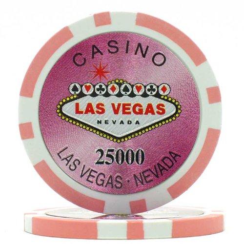Trademark Poker Clay Laser Las Vegas 100 Poker Chips (25000-Piece), 15gm