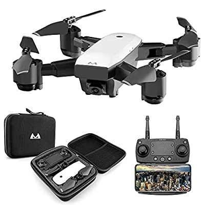 5GHz WiFi FPV Drone 1080P 5MP 120°Wide-Angle Live 4LED Light Video Dual GPS Return Home Quadcopter HD WiFi Camera Foldable Quadcopter RC Drone Toys by liu nian