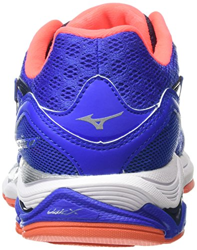 Mizuno Wave Inspire 12 - Zapatillas de running para mujer Azul - Blue (Dazzling Blue/Silver/Fiery Coral)