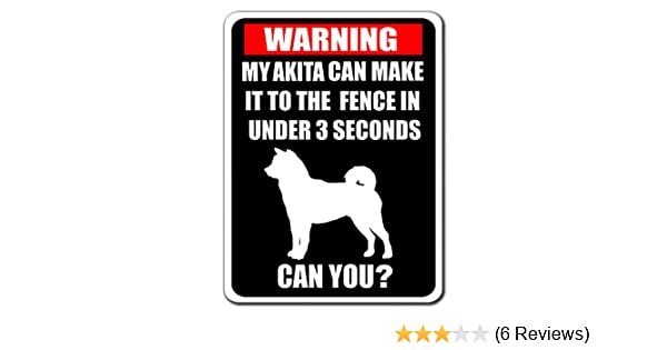 I LOVE MY AKITA VINYL STICKER 21 cm x 7 cm Humorous Novelty Sticker