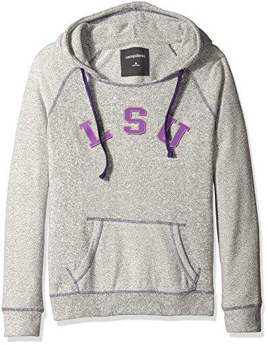 - NCAA LSU Tigers Women's Reverse Sleeve and Pocket Hoodie, Medium, Pepper/Purple