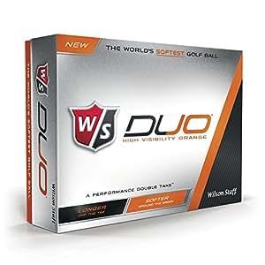 Wilson Staff Duo Golf Balls, Orange, 12 Piece