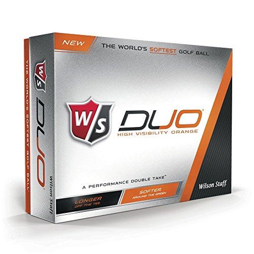 - Wilson Staff Duo Golf Balls, Orange, 12 Piece