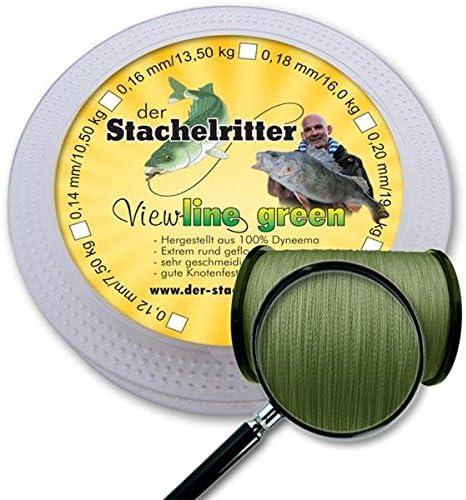 16,00 kg 100 bis 1000 m VIEWLINE Steckspule grün geflochten 0,18 mm