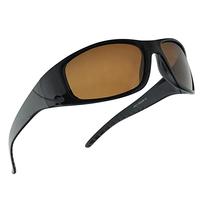 SunglassUP Polarized Wrap Around Water Sport Floating active Sunglasses for Men and Women - Italy Design Style Frame