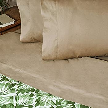 30x75 Bunk Sheet Set for Camper, RV or Travel Trailer 100% cotton Color: Camel