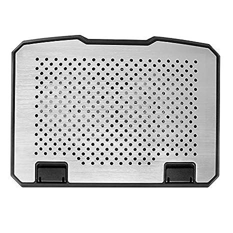 SODIAL almohadilla de refrigeracion para ordenador portatil 15 pulgadas de aluminio + plastico altura ajustable ventilador doble almohadilla de ...